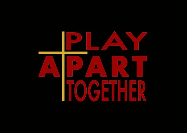 PLAY APART TOGETHER - Logo (Color on Bla