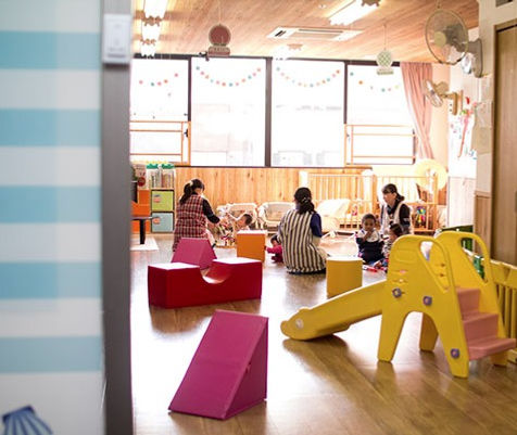 A classroom at a popular nursery school in Sasebo