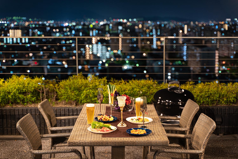 展望デッキから見渡す景色| 福岡の写真事務所
