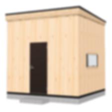 アトリエや店舗にも使えるミニログハウス