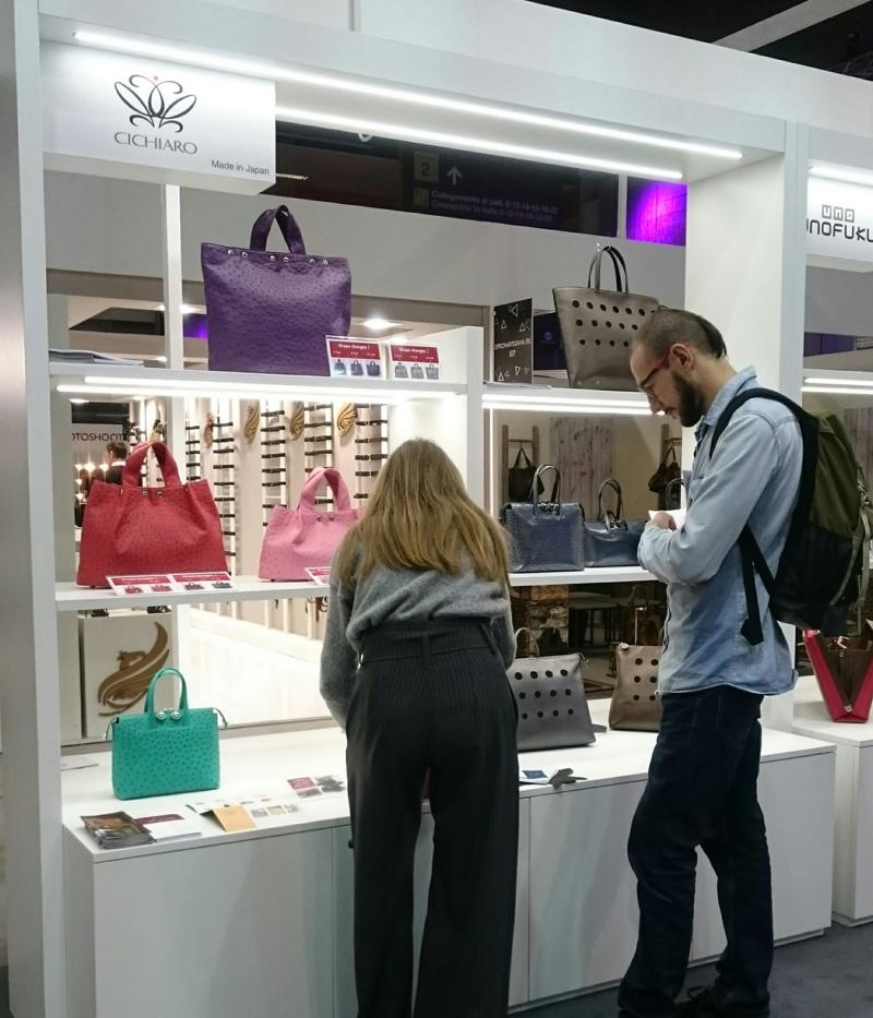 世界最大級の革製品が集まる展示会ミペルにチキャロも出展しました