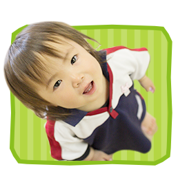 Girl wearing nursery gym clothes