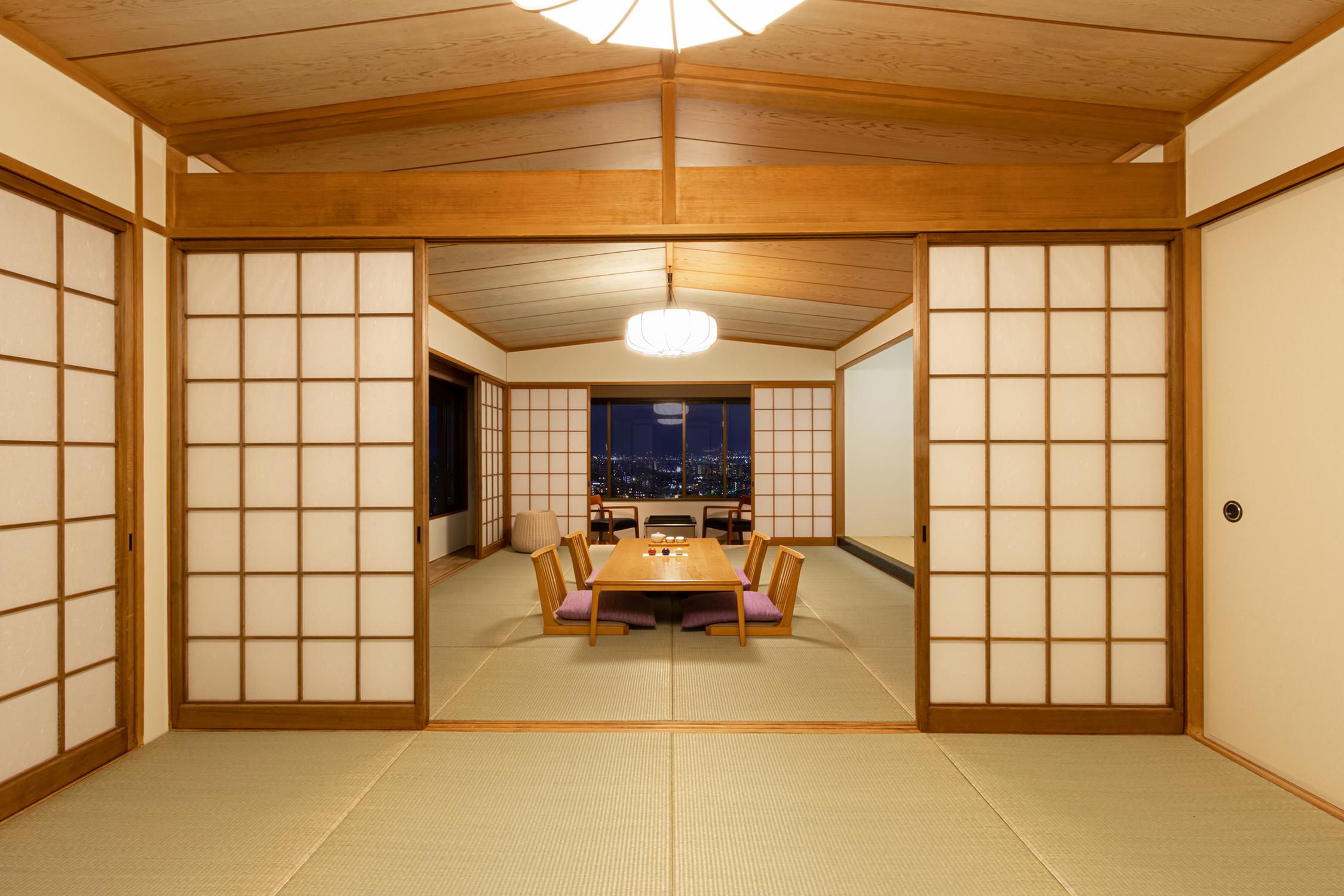 部屋の窓の景色をレタッチ合成した建築写真 | 福岡のカメラマン