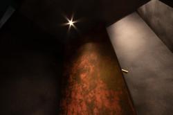 壁紙と打ちっ放しの壁を煽り撮影 福岡の建築カメラマン