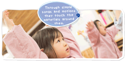 Sing the song to the nursery piano
