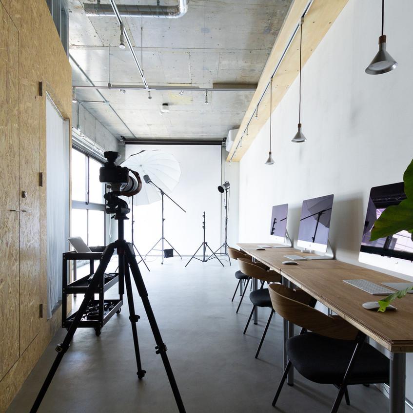 福岡市の写真事務所白金スタジオの内装