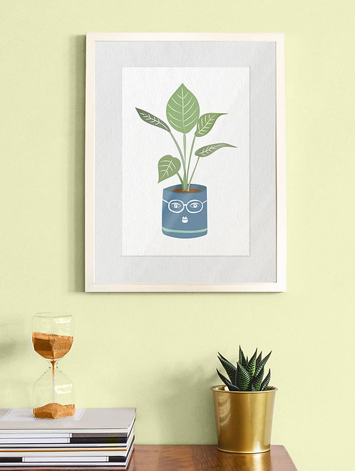 Bespectacled House Plant