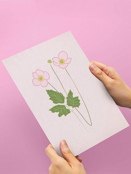 Botanical pale pink