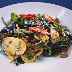 Garlic Beef with Kangkong