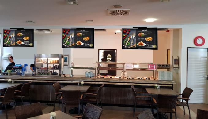 étterem fürdő menü digitális reklám