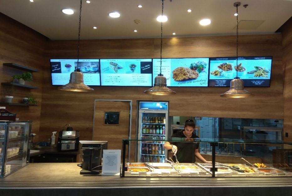 étterem, menza, digitális étlap