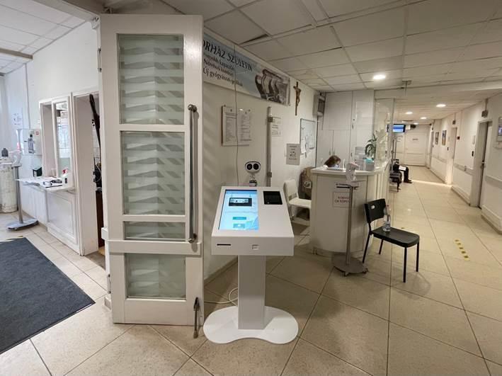 kórház digitális reklám medismart kioszk medimonitor