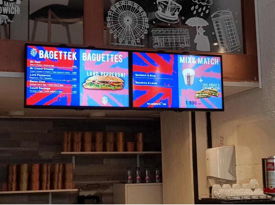 digitális étlap, reklám, étterem