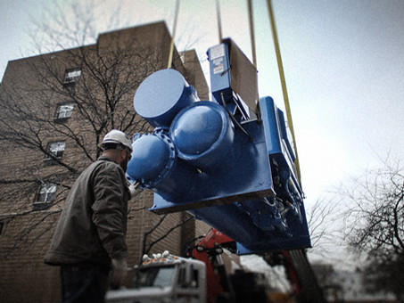 How To Move a 12,500 lb Chiller