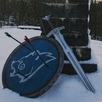 Skyrim - Sword, Shield & Helmet