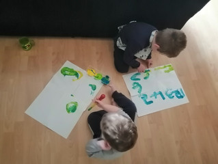 Busy Home Learners!  :)