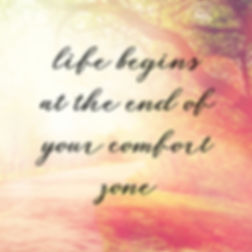 Quote - Life begins at the end of your c