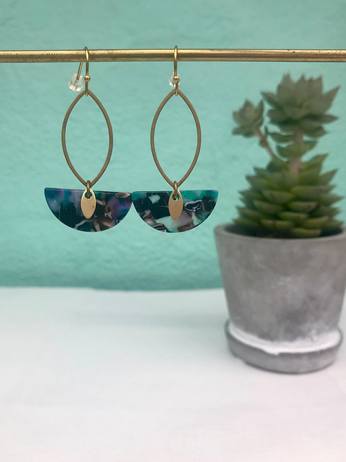 Boucles d'oreilles Acetate Little Green