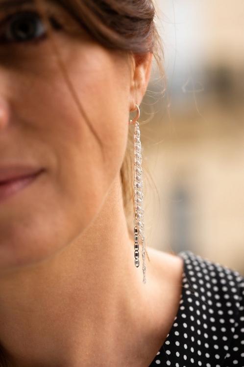 Boucles d'oreilles JOSEPHINE (argent)