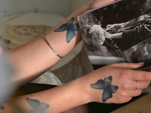 Tattoo PAPILLON (pochette de 5)