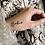 Thumbnail: Tattoo BONHEUR (pochette de 5)
