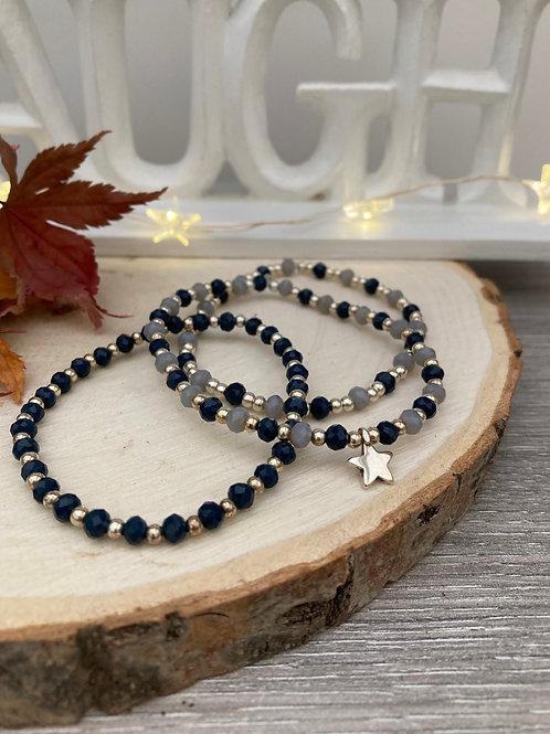 Bracelet STAR blue (3 modèles)