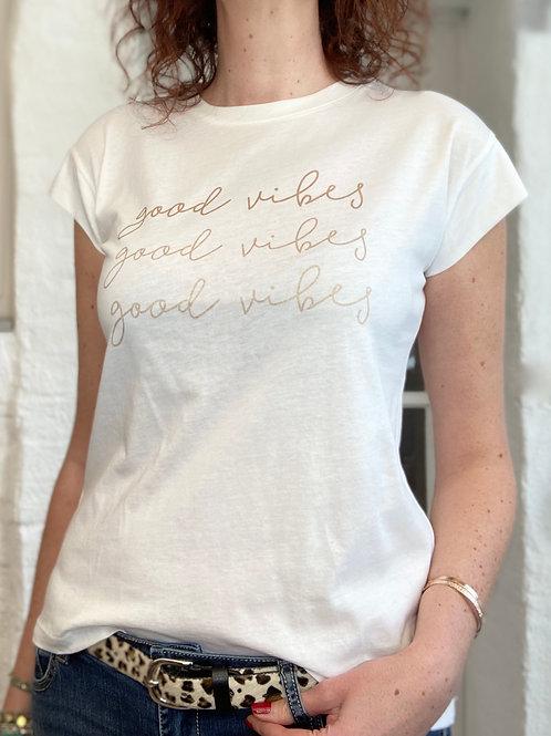 T-shirt GOOD VIBES (Bronze)
