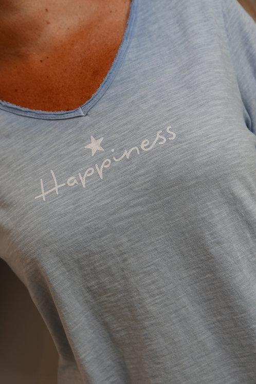 T-shirt HAPPINESS (plusieurs coloris)