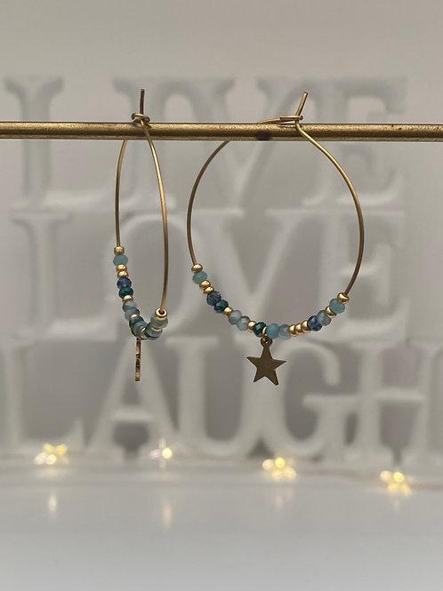 Créoles STAR Blue