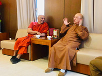 Meeting with the Vice Abbott of FoGuan Shan Monastery