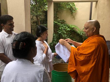Preparing the katina cheevara (robe)