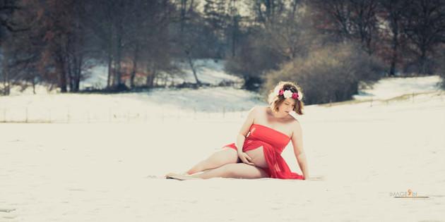 Séance photo sur la neige