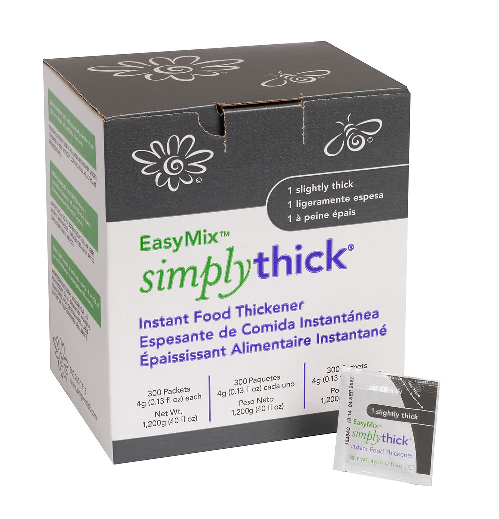 SimplyThick® EasyMix™ launches Slightly Thick Individual Packets for those with Dysphagia.