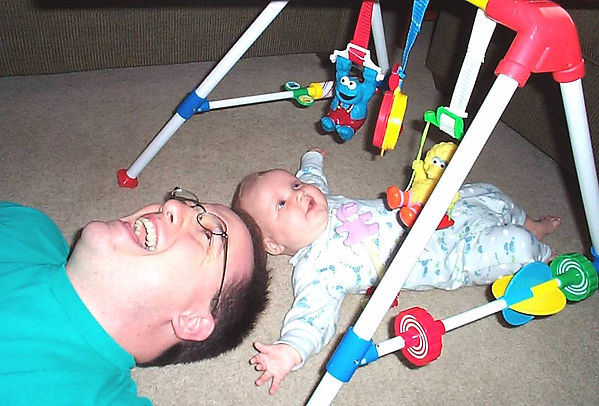 SimplyThick founder John Holahan with infant daughter