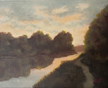 Walking by the River - 8x10_ - Oil on Canvas - Available.jpg
