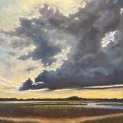 Sunset Ashley River Charleston SC - 30X30_ - Oil on Canvas - Available.jpg