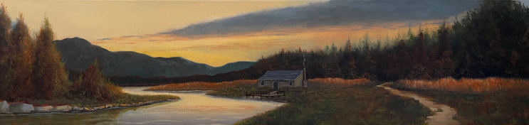 Sunset Solitude - 50x12_ - Oil on Canvas - SOLD.jpg