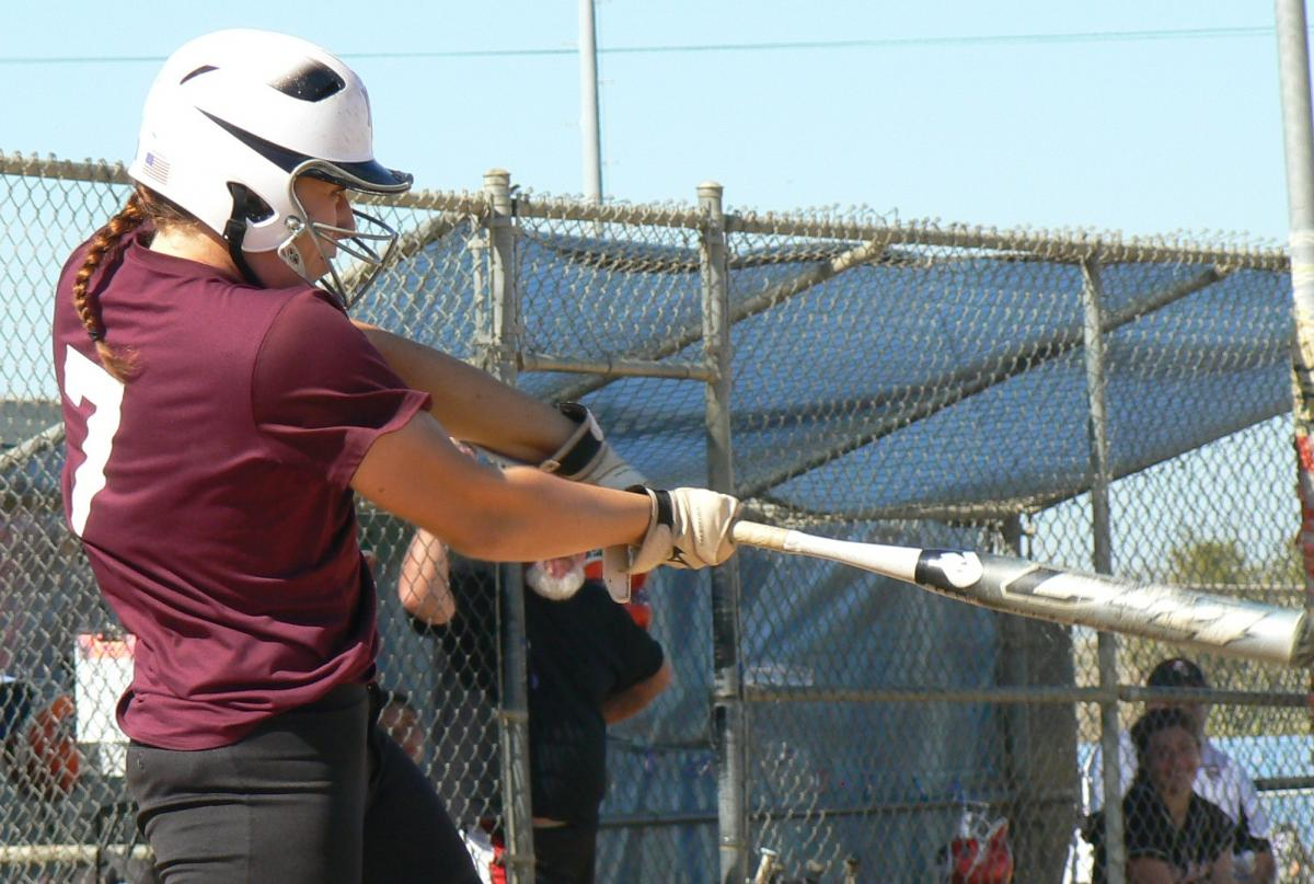 Lizzy Hawkins batting