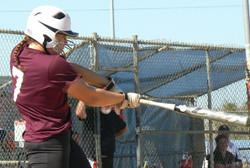 Lizzy Hawkins batting