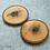 Thumbnail: 2 podkładki z drewna orzechowego z grawerem
