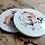 """Thumbnail: Komplet podkładek ceramicznych """"Miedziane Ślimaki"""""""