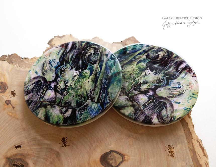 """Podkładki ceramiczne """"Bańkowa Panienka"""" - komplet"""