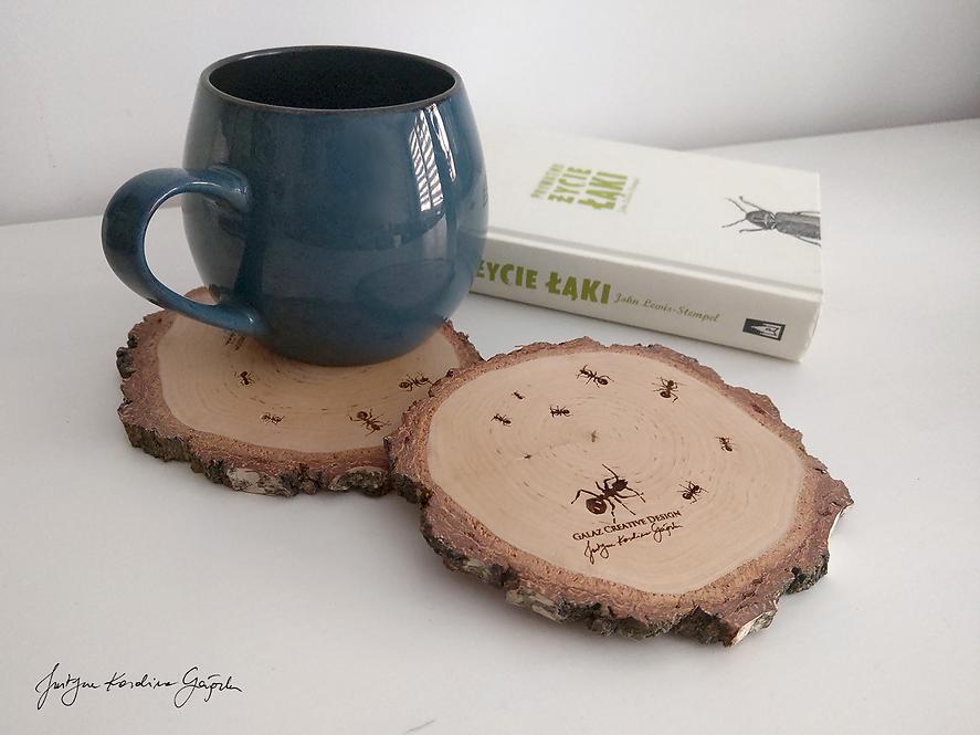 """Drewniane podkładki """"Mrówki"""" - komplet"""
