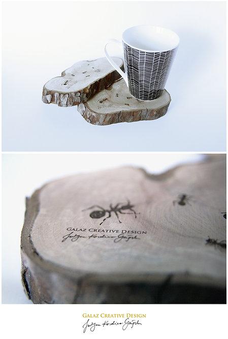 """Podkładka drewniana: """"Mrówka I"""""""