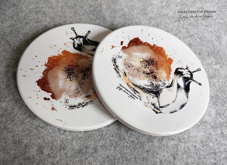 """1 podkładka ceramiczna """"Ślimak"""""""