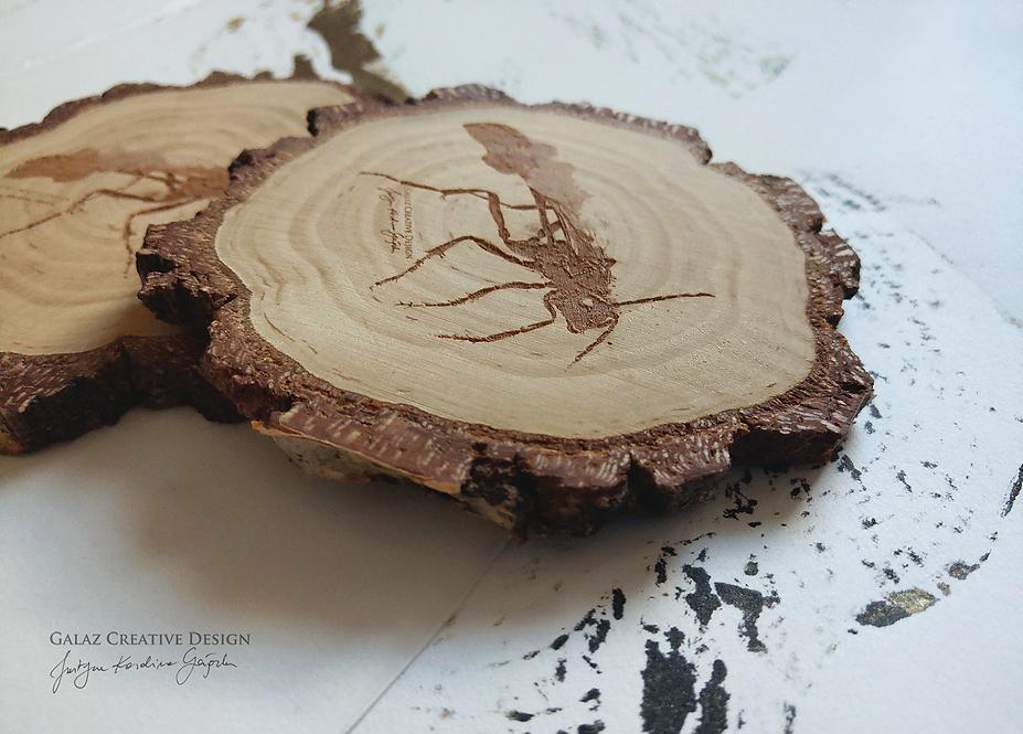 Podkładka drewniana - Mucha