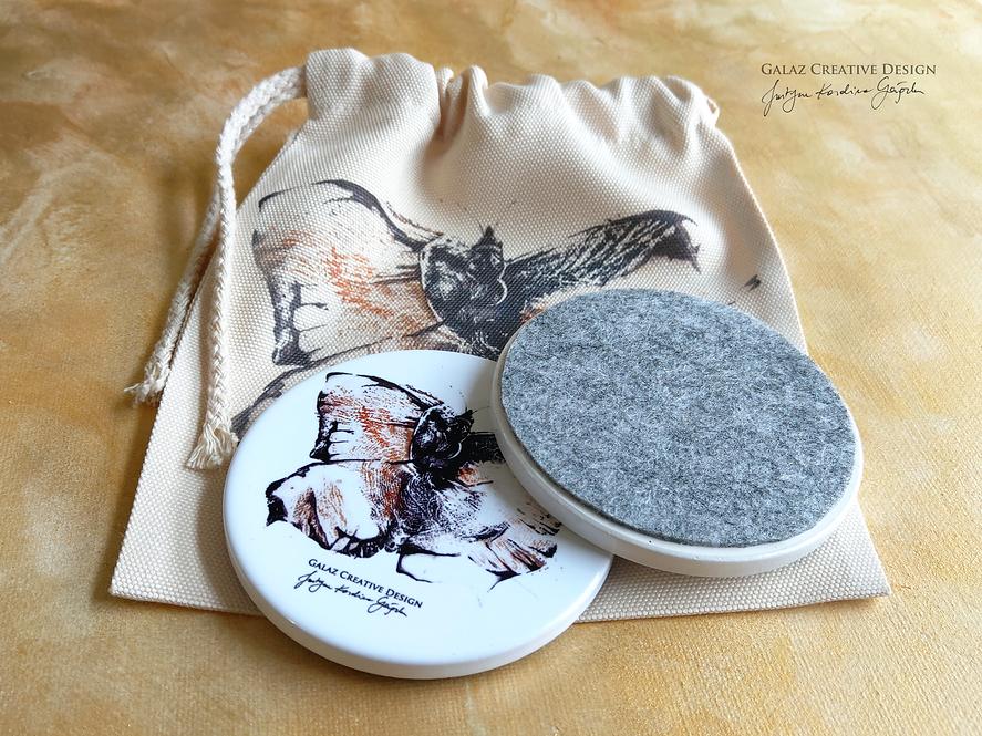 Lepidoptera - komplet 2 podkładek ceramicznych