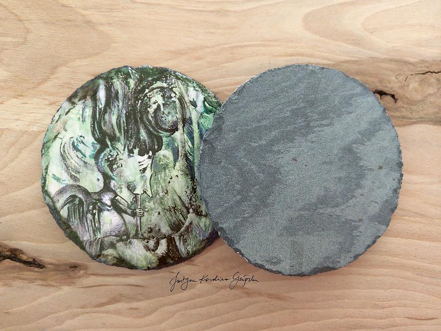2 Podkładki kamienne granitowe - Bańkowa Panienka