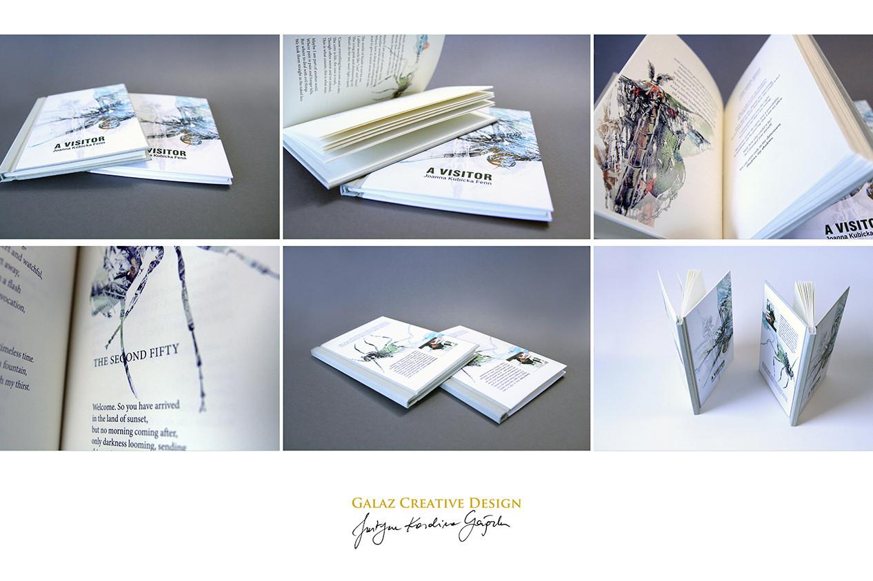 A Visitor - fot. własnoręcznie zaprojektowanej książki.