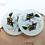 Thumbnail: Jaszczurki - podkładki szklane (komplet)